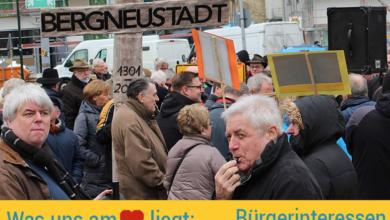 Bürgerprotest am Landtag Düsseldorf.