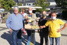 UWG Wahlkampfstand am Rathausplatz Bergneustadt.