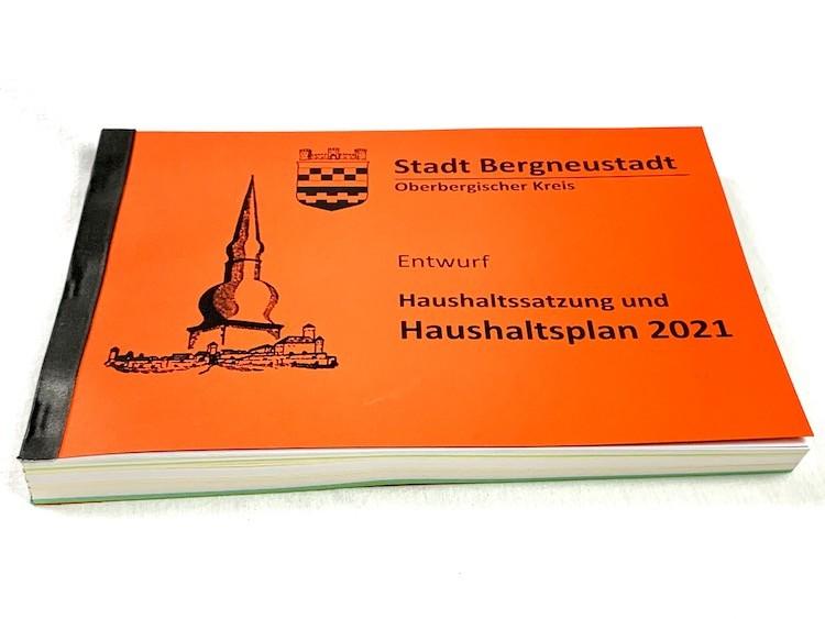 Haushaltsplan 2021 der Stadt Bergneustadt (Entwurf)