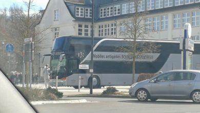 Mobiles Antigenes Schnelltestzentrum in Bergneustadt.