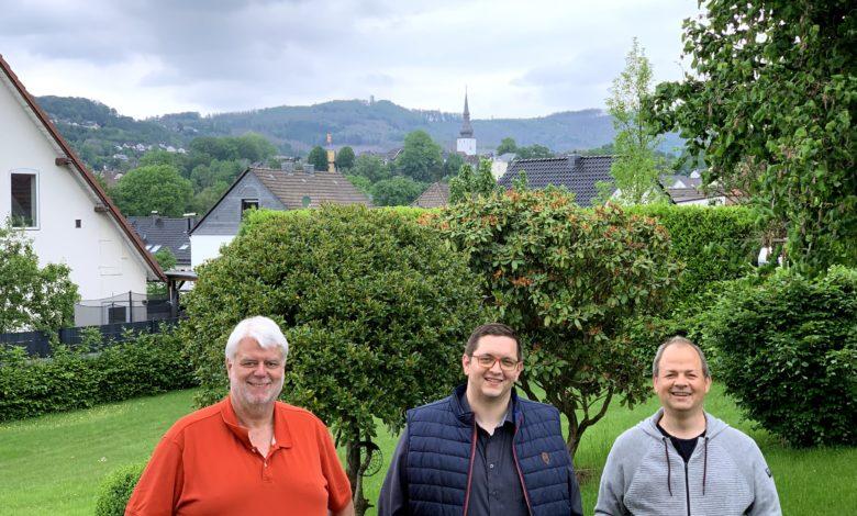 vlnr: Jens-Holger Pütz, Christian Abstoß, Sven Oliver Rüsche